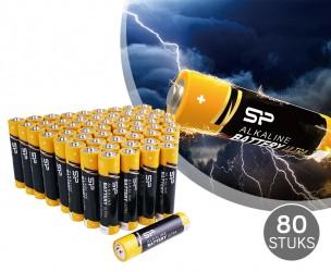 80 Stuks Silicon Power Ultra Long Life Alkaline Batterijen - Keuze Uit AA en AAA!