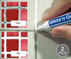 2-Pack White 'n Go Voegenmarker - Maak Voegen Tussen Tegels Weer Stralend Wit!