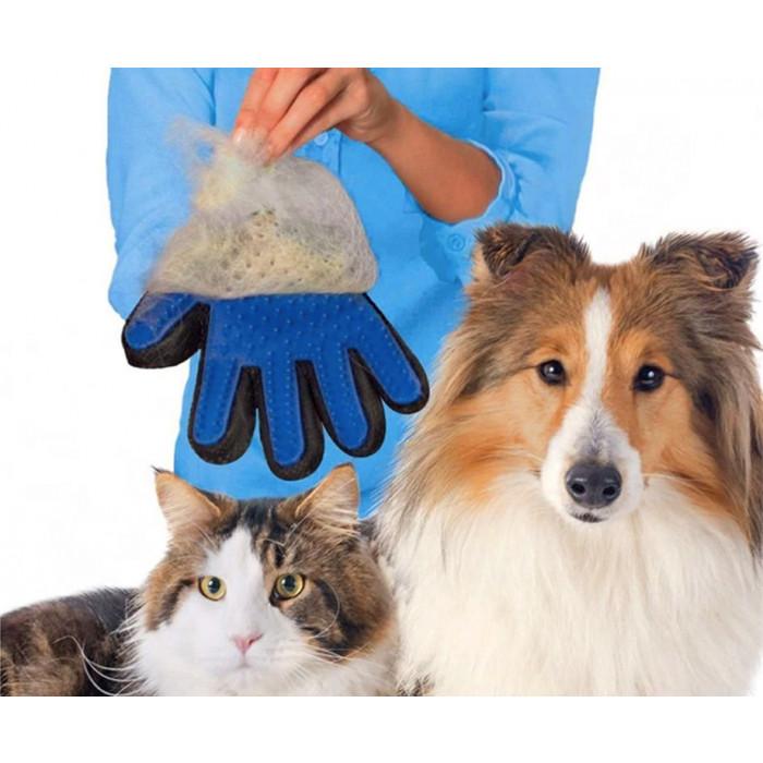 Hond en Kat Vacht Verzorgingshandschoen - Voor Gemakkelijk en Veilig Borstelen!