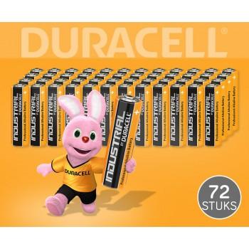 72 Stuks Duracell Industrial Batterijen - Gaat Tot 5x Langer Mee!