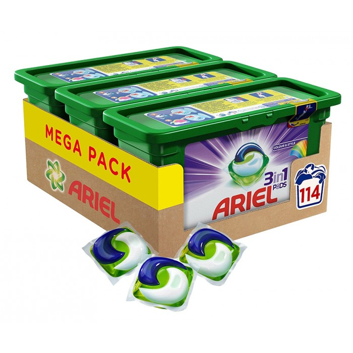 MEGA PACK Ariel 3-In-1 Pods - Keuze Uit Colour Of Regular!
