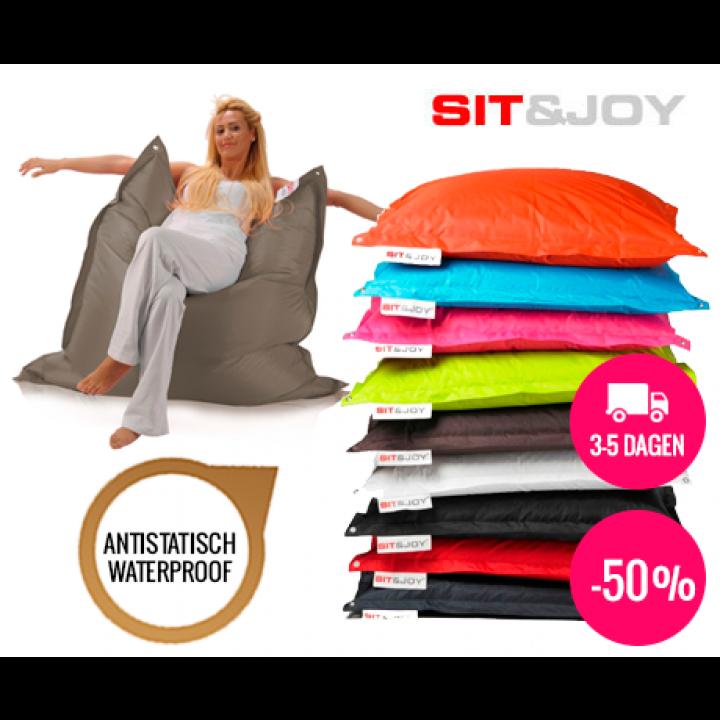 Zitzak Sit En Joy Blauw.Sit Joy Zitzak Basic Square 100 X 150 Cm Voordeelvanger Nl