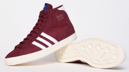 Adidas Sneakers Hoog Originals Basket Profi In Blauw of Rood