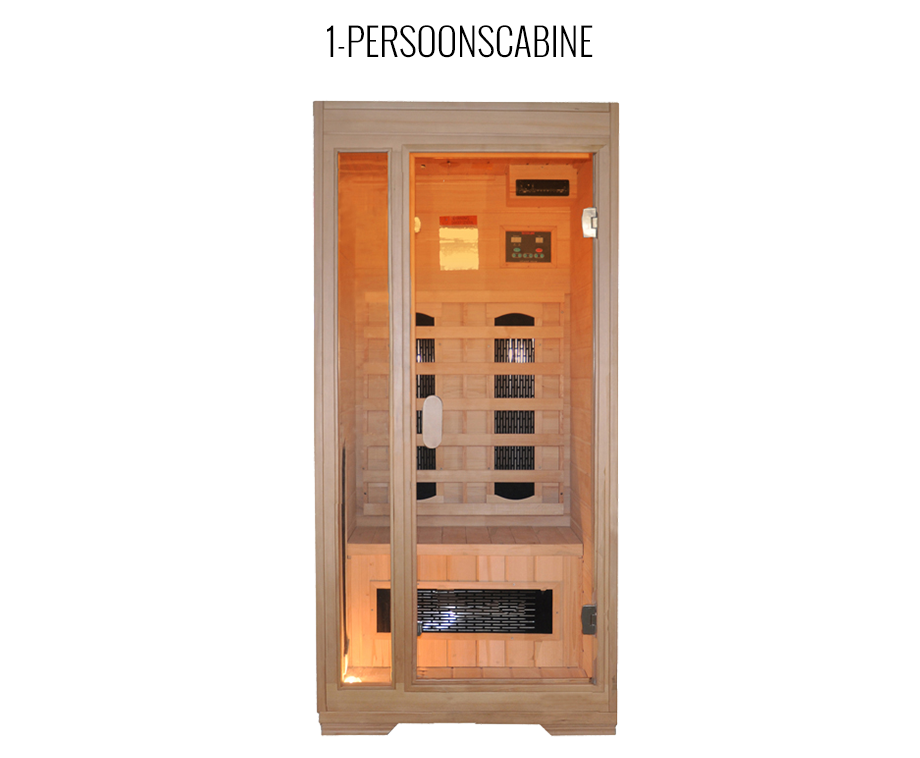 interline premium infrarood sauna voor 1 of 2 personen. Black Bedroom Furniture Sets. Home Design Ideas