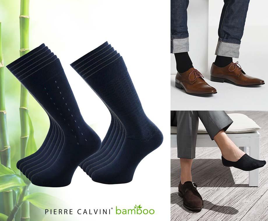 12-Pack Pierre Calvini Bamboe Sokken - Lang Of Kort In Verschillende Kleuren!