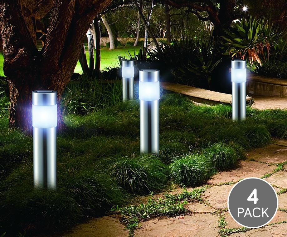 Set Van 4 Solar LED Tuinlampen - Creëer Gezelligheid In De Tuin ...
