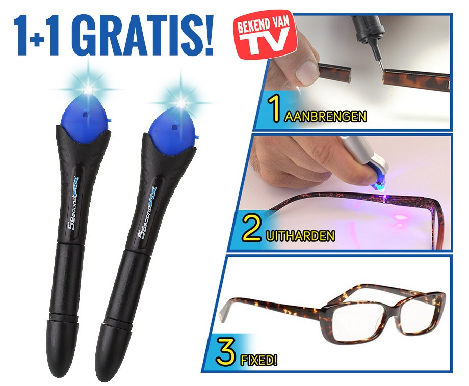 5 Second Fix UV Alleslijm - Vandaag 1+1 GRATIS!