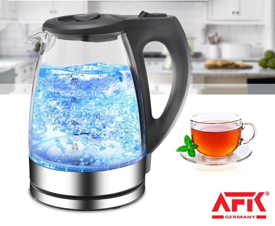 Afk waterkoker met led verlichting 1 7 liter inhoud for Waterkoker led verlichting