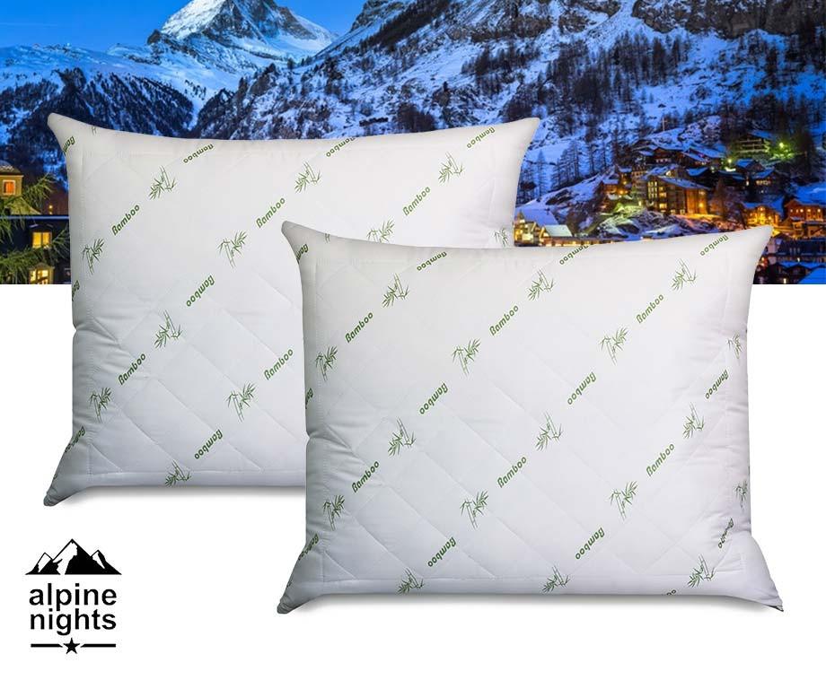 Alpine Nights Bamboo Hoofdkussens - Vandaag 1+1 GRATIS!