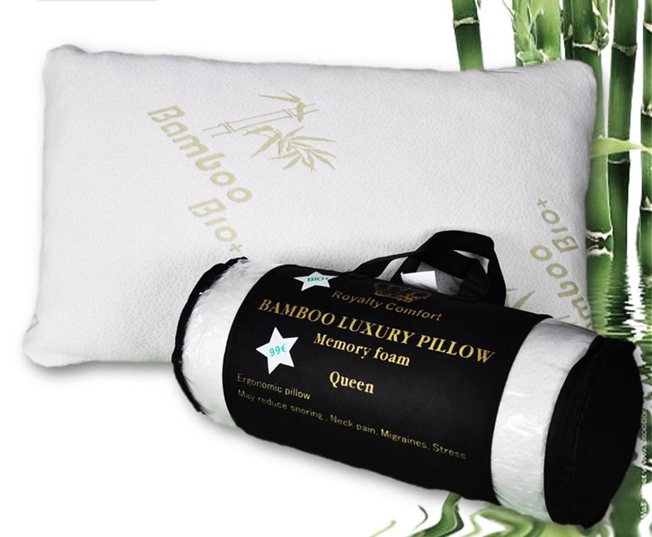 Bamboe Kussen Ervaringen : Royalty comfort bamboe kussen met traagschuim kern dagelijks
