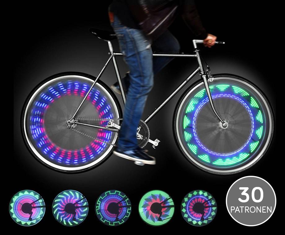 LED Color Wheel Fietsverlichting - 30 Prachtige Patronen In Het Wiel ...