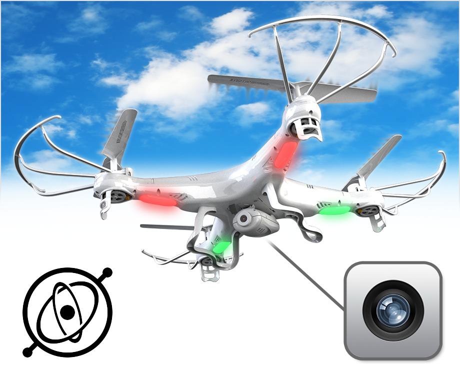 Bestuurbare Helikopter Drone - Met Camera & LED Verlichting!