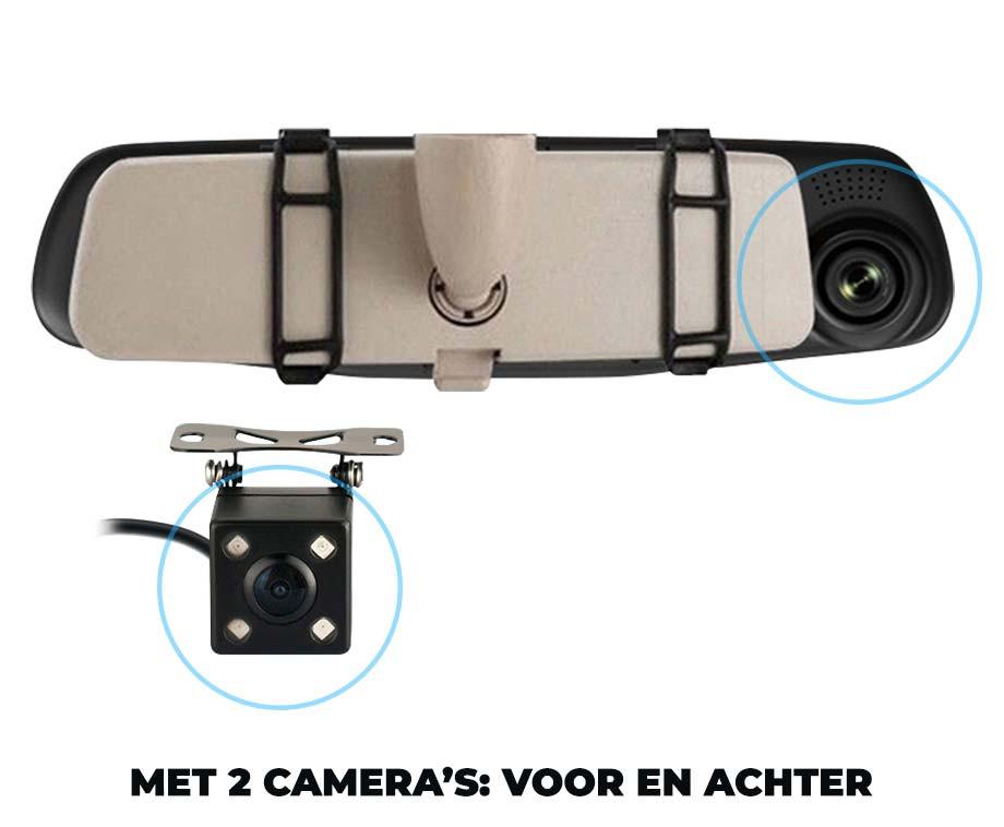 iBello Binnenspiegel Dashcam - Met Voor- En Achtercamera!