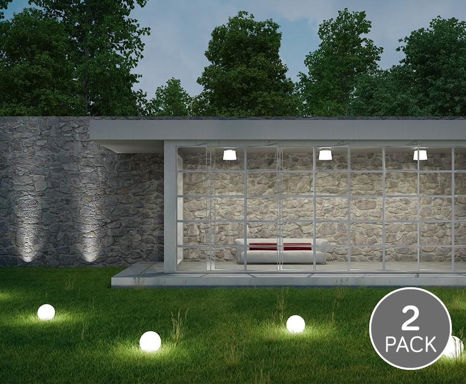 2-Pack Solar LED Lichtbollen - Perfecte Sfeervolle Verlichting Voor In De Tuin!