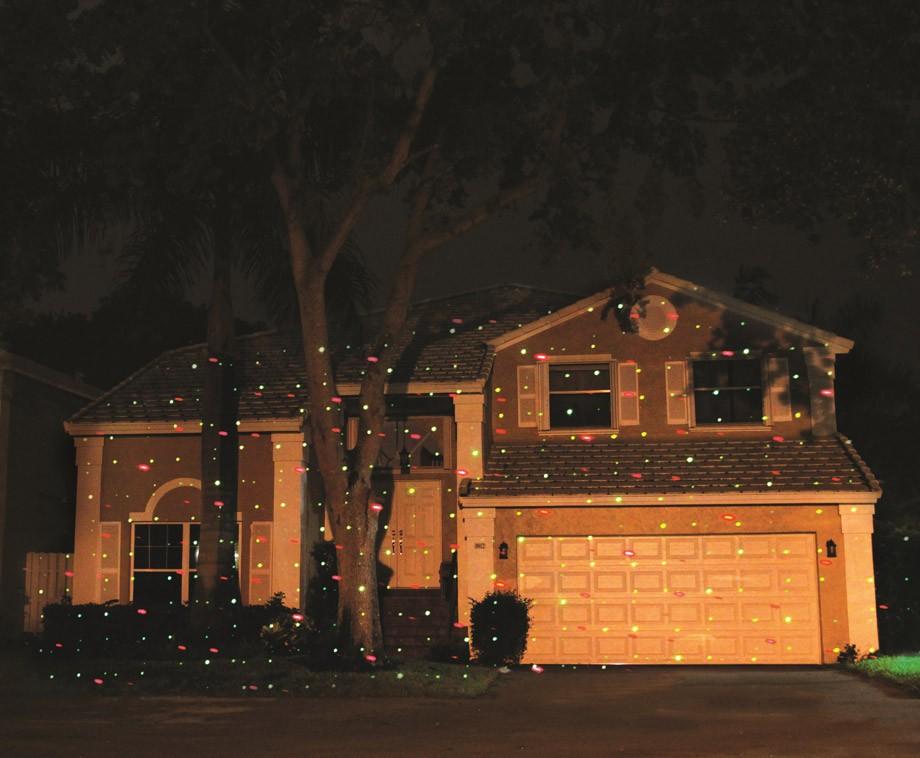 Cenocco laser light versier het huis met honderden lichtjes
