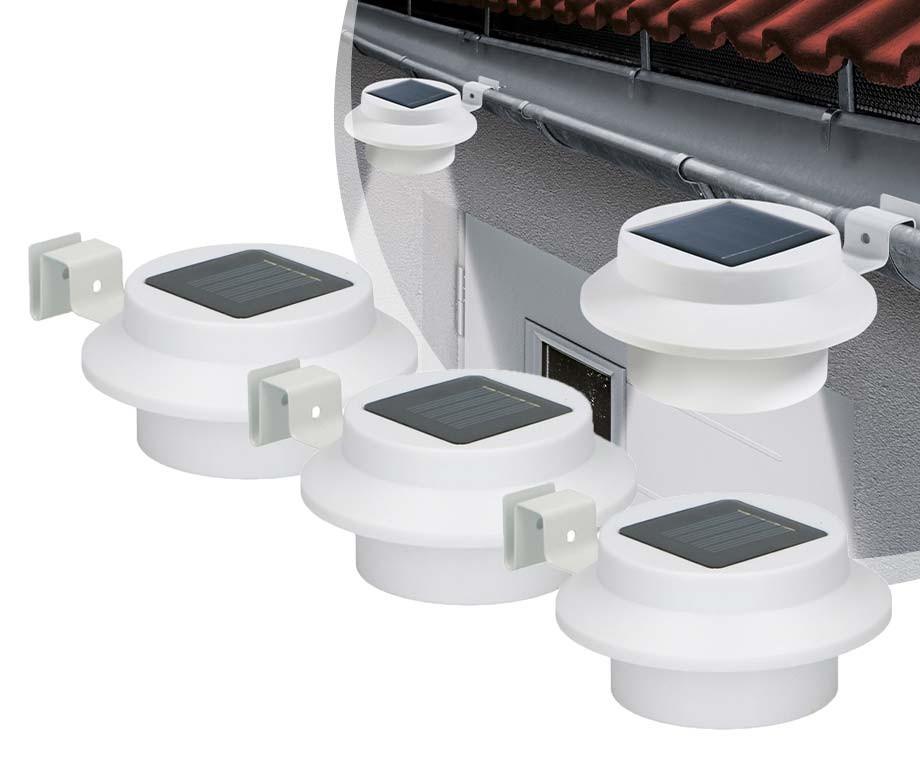 3-Pack Grundig Oplaadbare Solar Lampen - Voor Aan de Schutting Of Dakgoot!