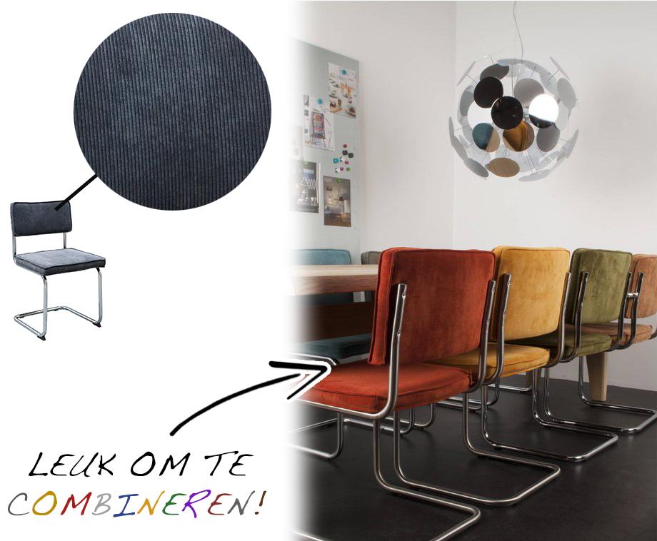 Stoel Zonder Leuning : Design rib stoel met of zonder leuning verkrijgbaar in