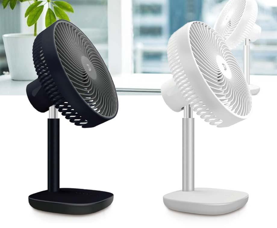Krachtige Oplaadbare Ventilator - Voor Op Je Bureau, In De Tuin, Op De Camping, Etc.!