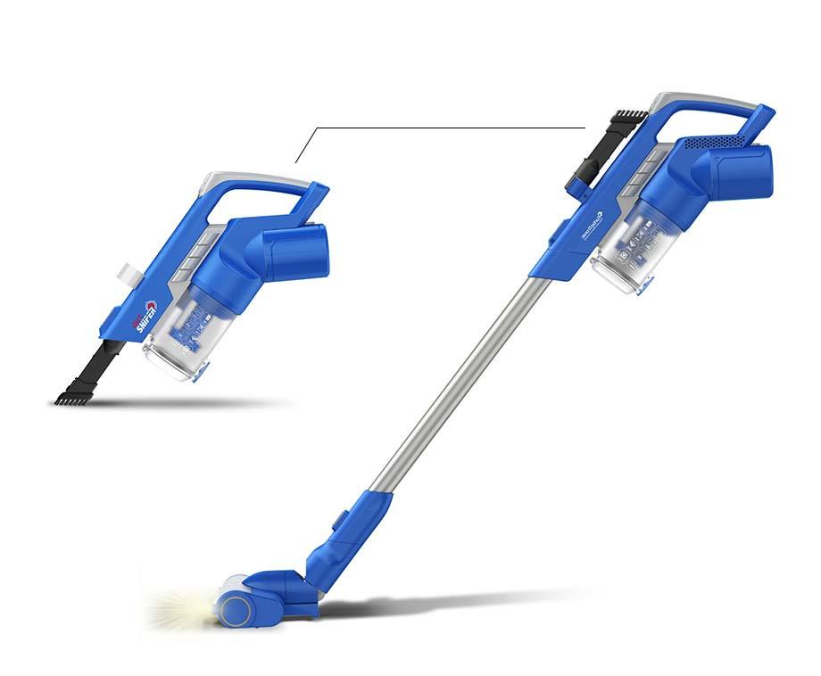 Dirt Sniper Snoerloze Cycloon Accustofzuiger - Ultrakrachtige En Extra Stille Motor!
