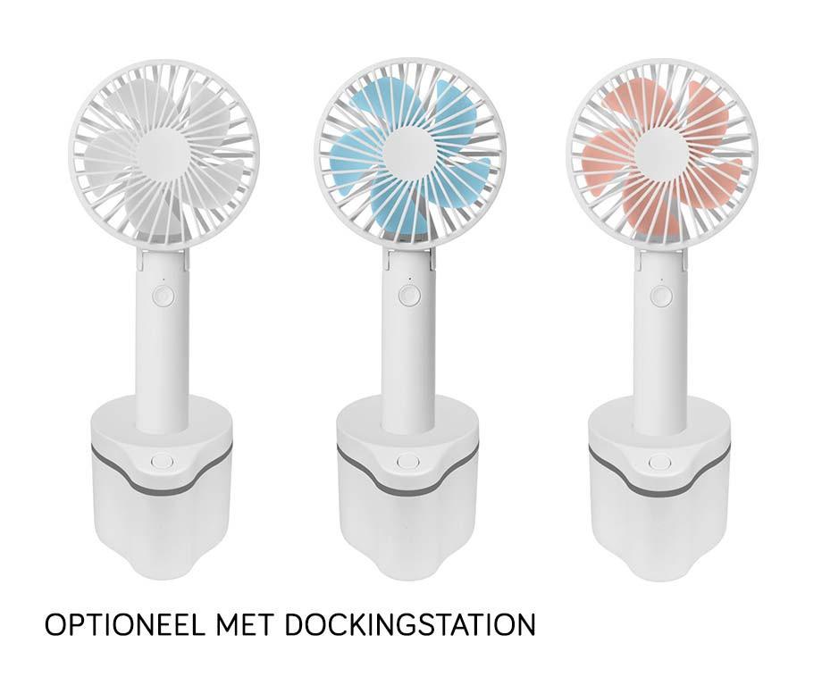 Draadloze Draagbare Ventilator - Optioneel Met Roterende Dockingstation!