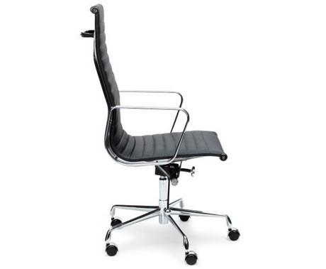 Bureau Stoel Leer.Design Bureaustoel In Zwart Of Creme Leer Keuze Tussen Hoge Of Lage Rugleuning