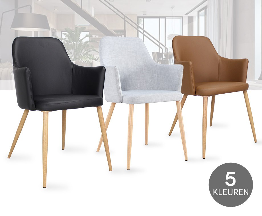 Luxe eetkamerstoelen van breazz verkrijgbaar in 5 for Verschillende kleuren eetkamerstoelen