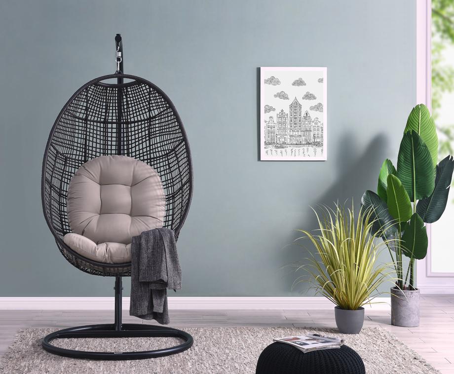 Hangstoel Egg Chair.Best Beoordeeld Deze Aanbieding Is Als Best Beoordeeld Omdat Deze Deal 5 Sterren Scoort Feel Furniture Egg Chair Heerlijk Relaxen In De Tuin