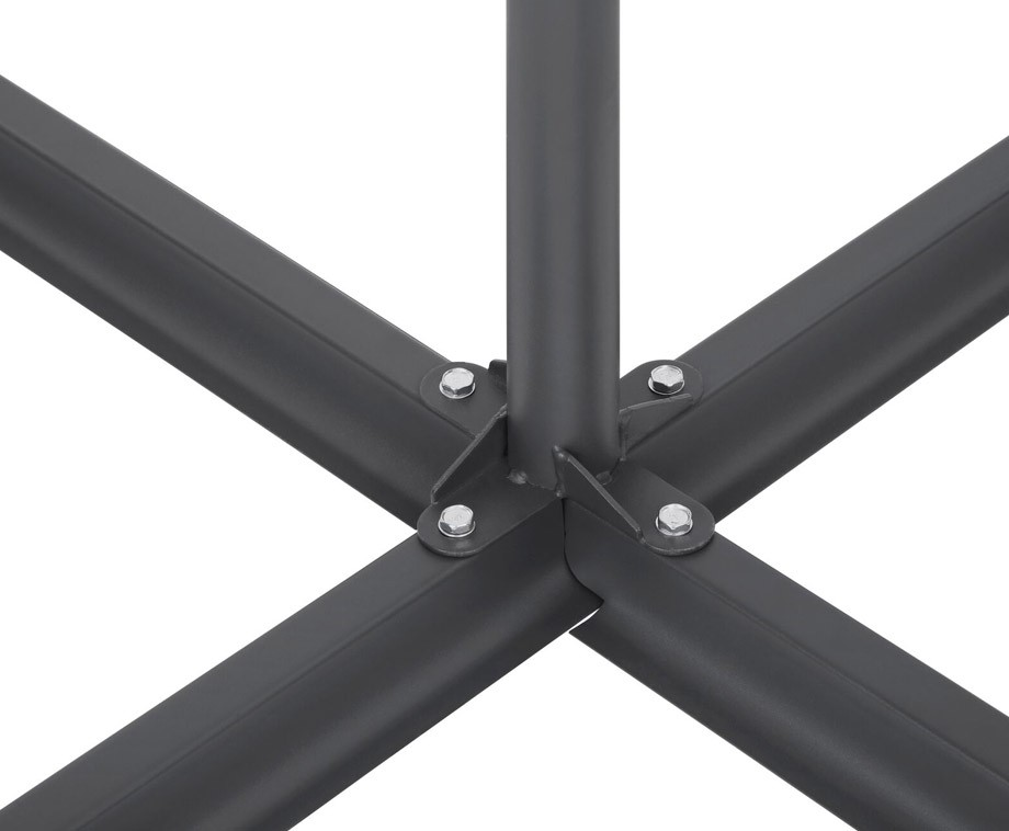 Luxe XXL Zweefparasol Antraciet - Diameter Van 3 Meter!