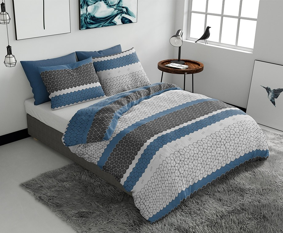 Wake up bedding dekbedovertrek finland blue