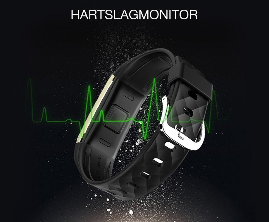 FitGear Activity Tracker - Met Hartslagmonitor, Calorieteller En Meer!
