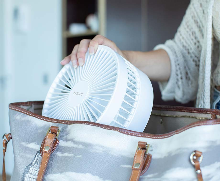 Avanca Foldable Fan - Draadloos En In Hoogte Verstelbaar!