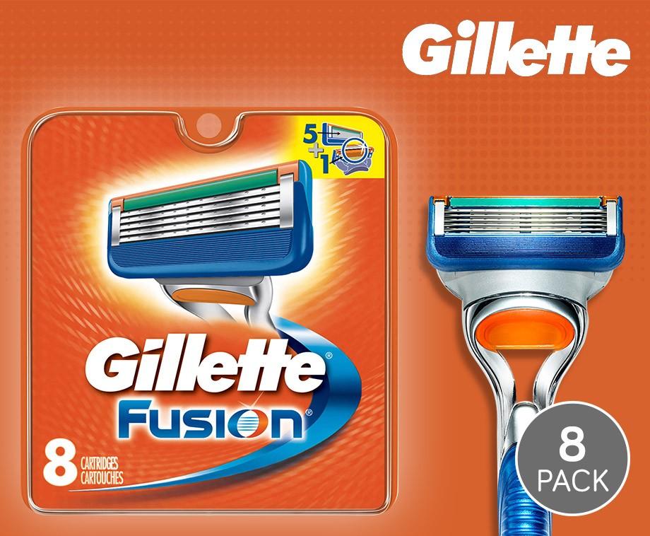 8-Pack 100% Originele Gillette Fusion Scheermesjes!