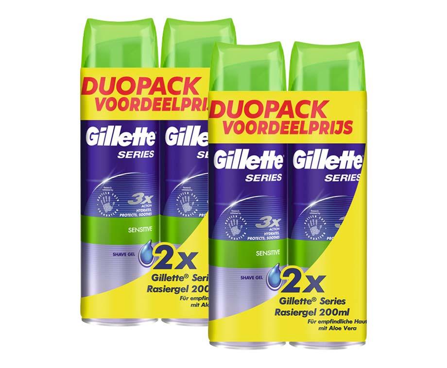 Gillette Series Scheergel Voor De Gevoelige Huid - Vandaag 2+2 GRATIS!