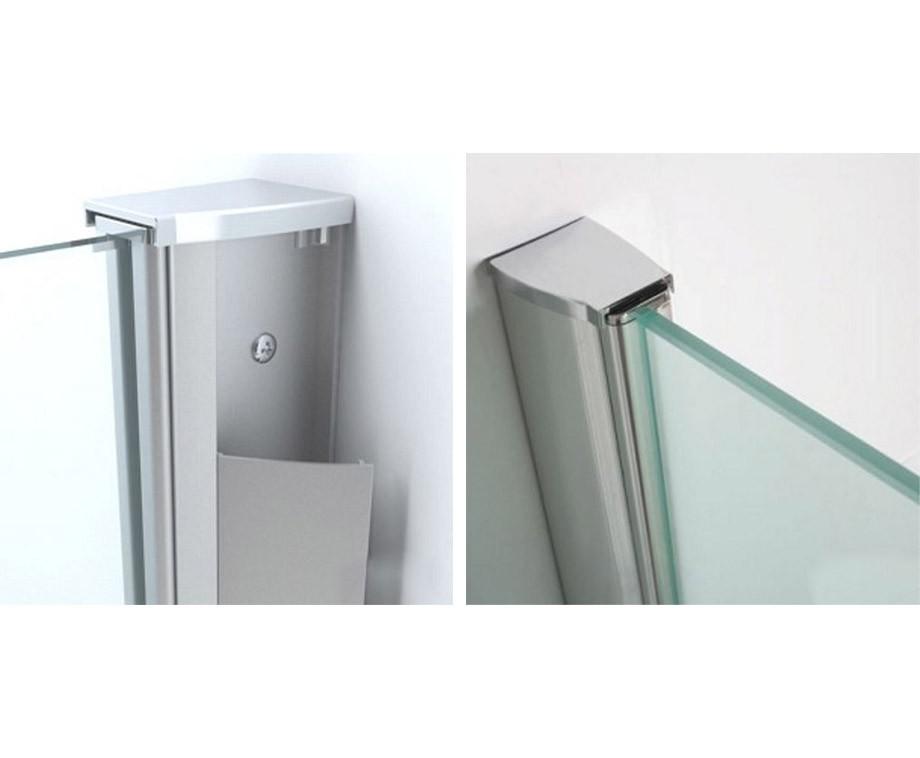 Glazen Douchewand Coating.Wiesbaden Glazen Douchewand 8mm Met Nano Coating Creeer Een Echte Inloopdouche