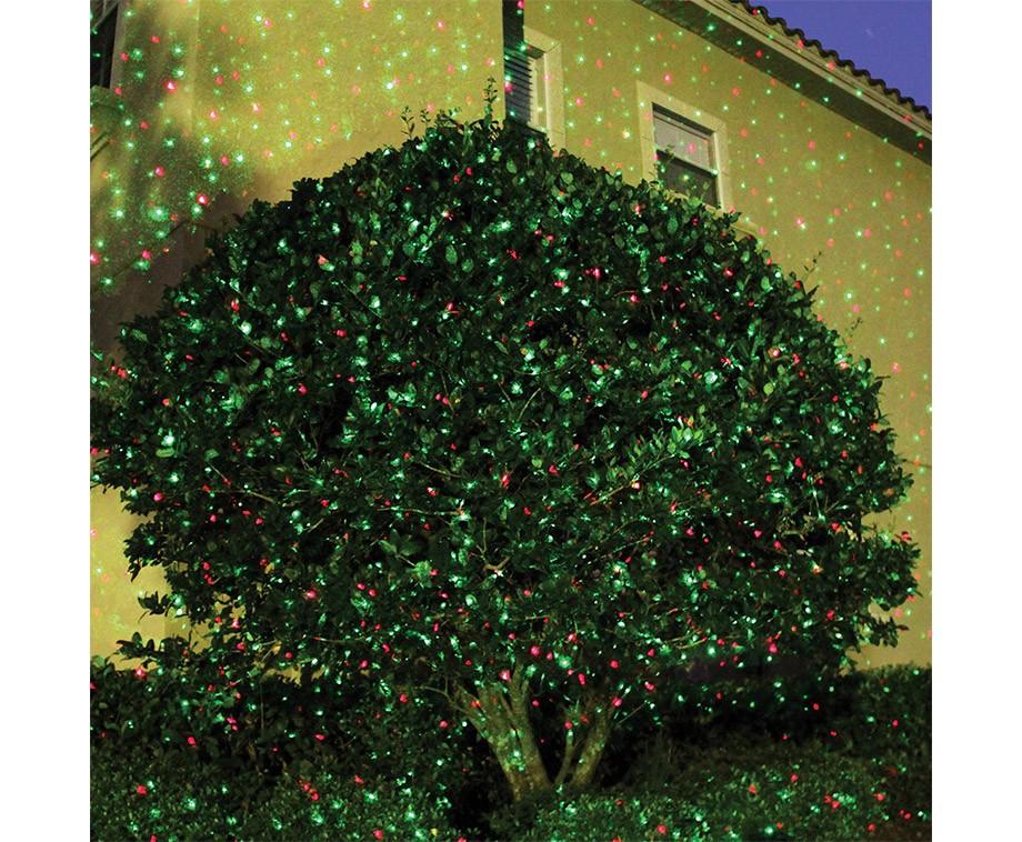 Glow bright laser light versier het hele huis voor de feestdagen