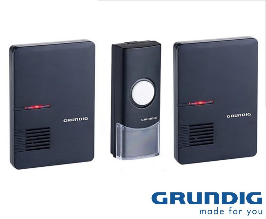 Grundig Draadloze LED Deurbel - Met 1 of 2 Ontvangers!