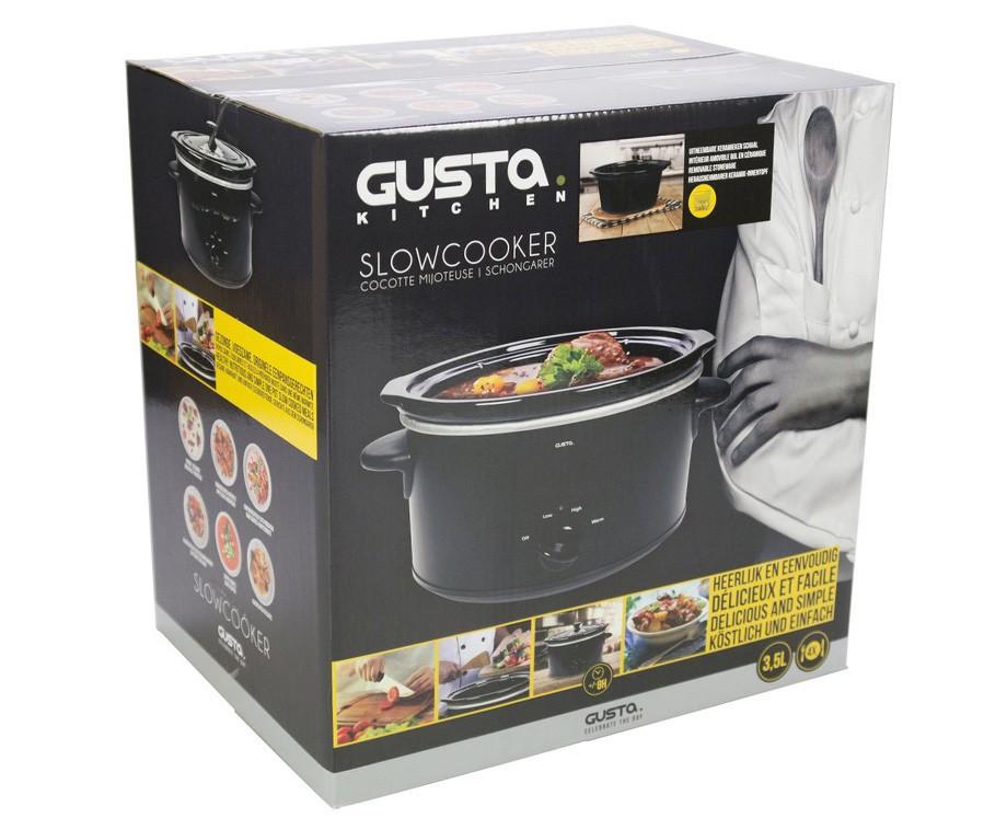 Gusta Slow Cooker 3,5L - Met Keramische Pot!