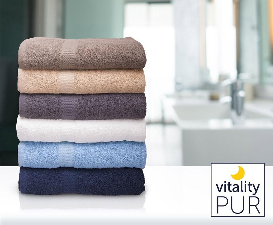 Set Van 6 Luxe Vitality Pur Handdoeken - Verkrijgbaar In 6 Kleuren!