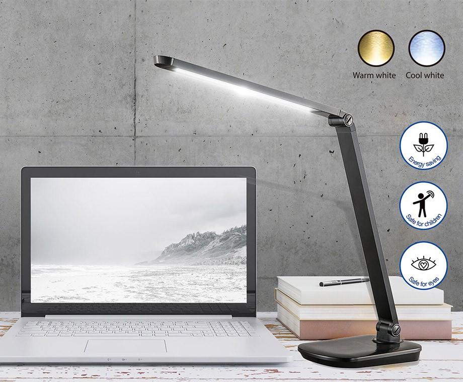 Luxe hyundai led bureaulamp met draadloze qi oplader
