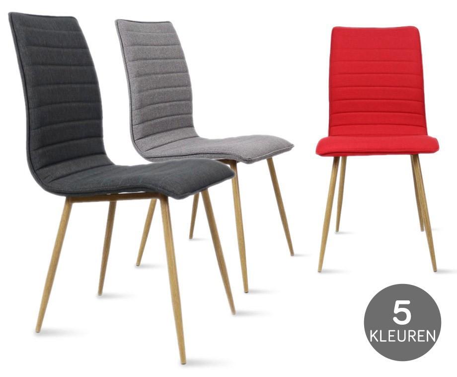 Stijlvolle kanto eetkamerstoel verkrijgbaar in 6 for Verschillende kleuren eetkamerstoelen