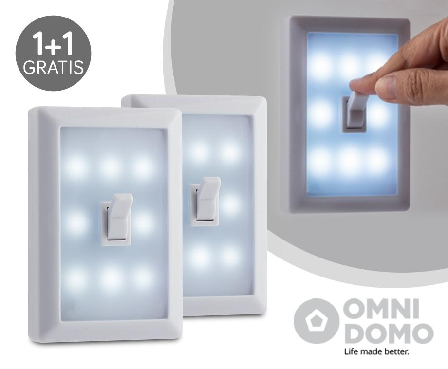 LED-Lampen Met Schakelaar 1+1 GRATIS - Overal Draadloos Te ...
