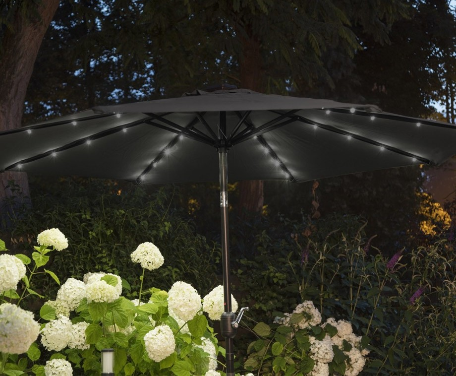 Luxe Parasol Met Solar LED Verlichting - Verkrijgbaar In 2 ...