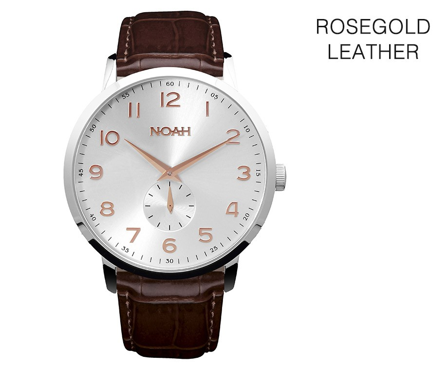 NOAH Slimline Horloge - Ultra Plat High End Model!