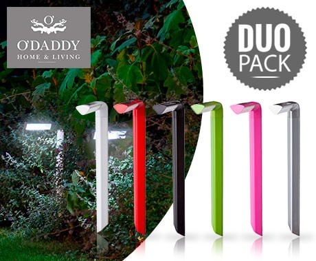O\' DADDY Haakse Solar Led Tuin Lampen in 6 Kleuren - 1+1 GRATIS ...