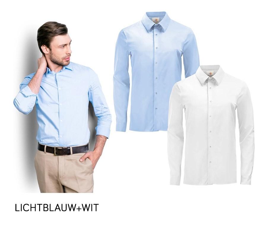 Maat Overhemd Man.2 Pack Pierre Calvini Overhemden Kies Uit Maat S T M Xxl En 3