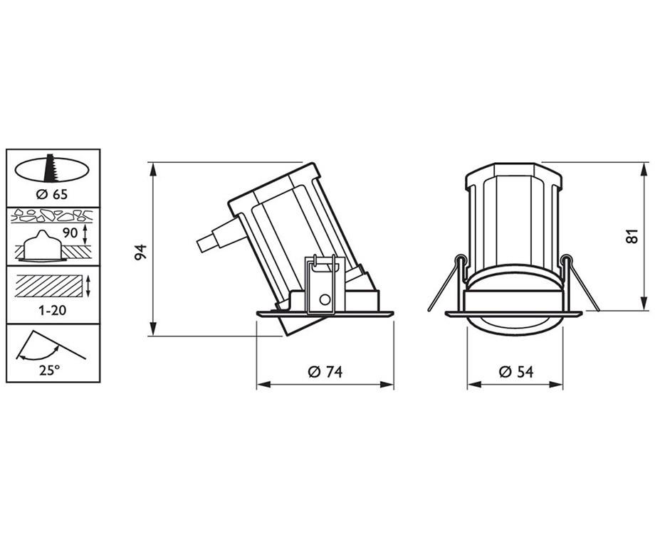 Philips LED Inbouwspot Kantelbaar - Met Oplopende Korting!