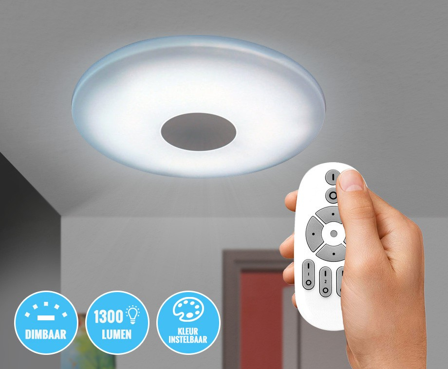 Dimbare Led Plafondlamp Met Afstandsbediening Met