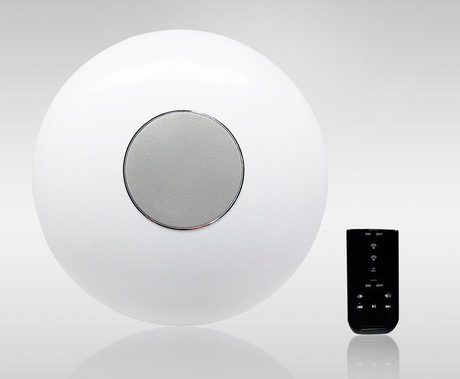 Led dimbare plafondlamp met ingebouwde bluetooth speaker