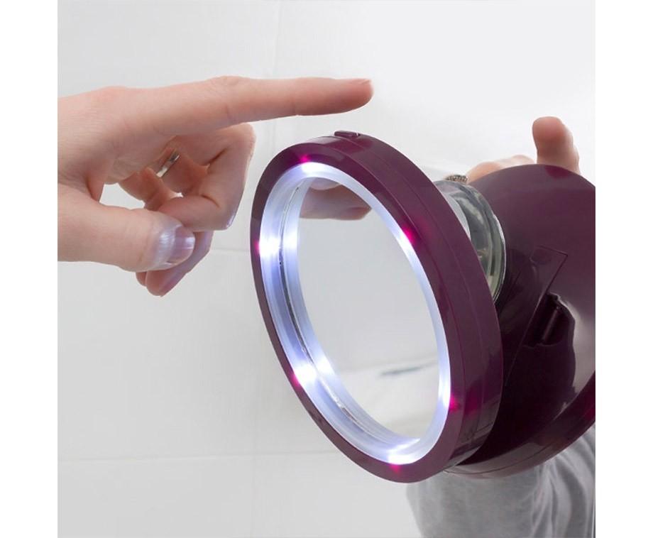 Vergrotende spiegel met led verlichting maakt de for Vergrotende spiegel