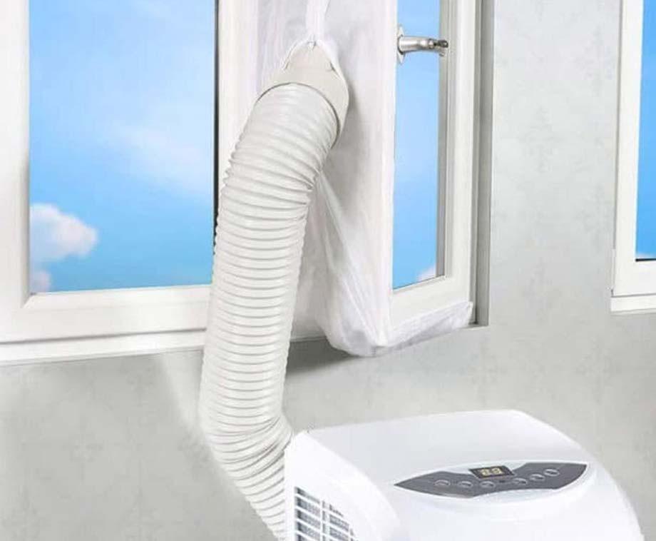 FlinQ Universele Raamkit Voor Mobiele Airconditioners - Verhoogt De Koelprestaties!